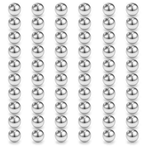 D.Bella 60pcs 316L Surgical Steel Replacement Balls Body Jewelry Piercing Barbell Parts 14G 8mm Balls for Women Men