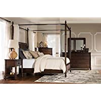Passages Canopy Bed Cane (King: 89 in. L x 81.33 in. W x 89.33 in. H)