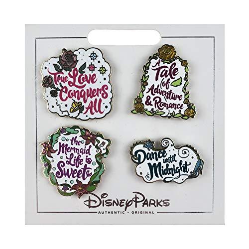 Trading Pin - Princess Quotes Set - Ariel, Aurora, Belle & Cinderella