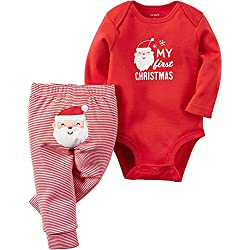 "Carter's Baby 2-Piece Bodysuit and Pant Set, ""My First Christmas"", Red, 12M"