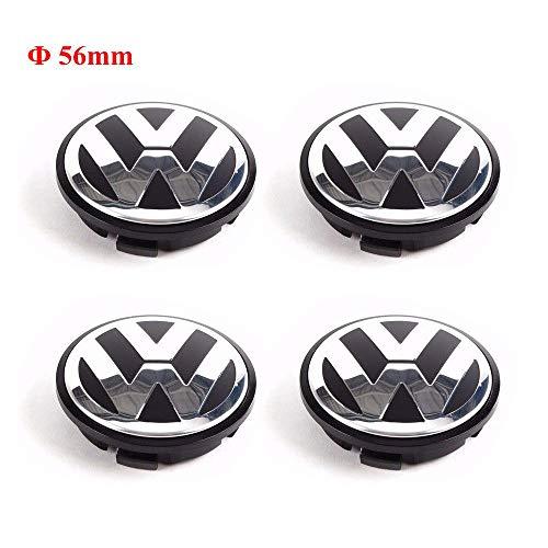 Rim Vw Golf Wheel (CCBaseball Set of 4 - Volkswagen Wheel Center Caps Emblem, 56mm VW Rim Hubcap Cover for VW Volkswagen Jetta Golf Beetle)
