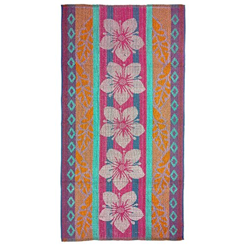 Terry Beach Towel - flowers