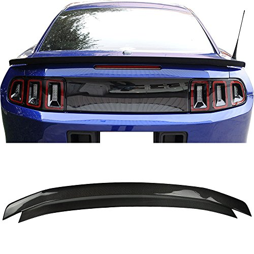 - Trunk Spoiler Fits 2010-2014 Ford Mustang | Unpainted CF Car Exterior Trunk Spoiler Rear Wing Tail Roof Top Lid by IKON MOTORSPORTS | 2011 2012 2013