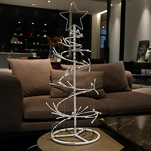 Spiral Lighted Trees For Outdoors in US - 7