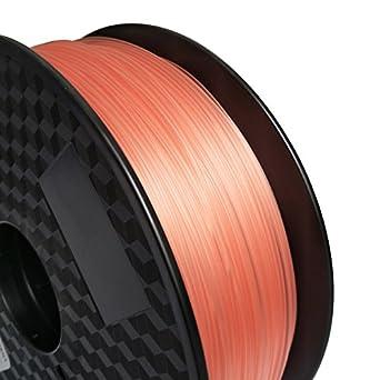 Filamento para impresora 3D, 1,75 mm, ABS (rojo claro ...