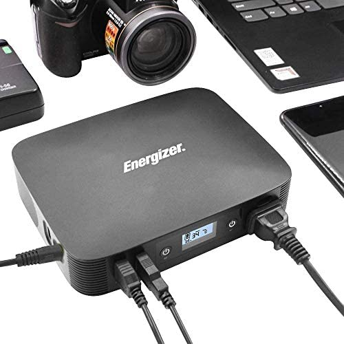 Energizer Portable Power Station 100Wh 26900mAh Allowed on a Flight with Pure Sine Wave110V 85W AC Outlets for for Road Trip Camping, Outdoor Adventure Hunting Emergency