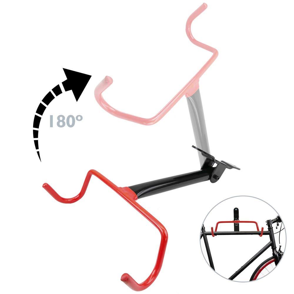 Cablematic - Soporte de pared con gancho plegable para colgar bicicleta Cablematic.com PN23101510010127506