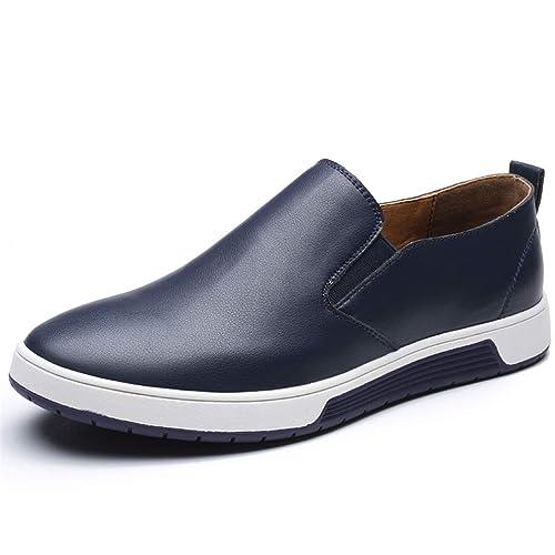 Hombres Mocasines de Cuero Zapatos Casuales marrón Verano Mallas Zapatos: Amazon.es: Zapatos y complementos