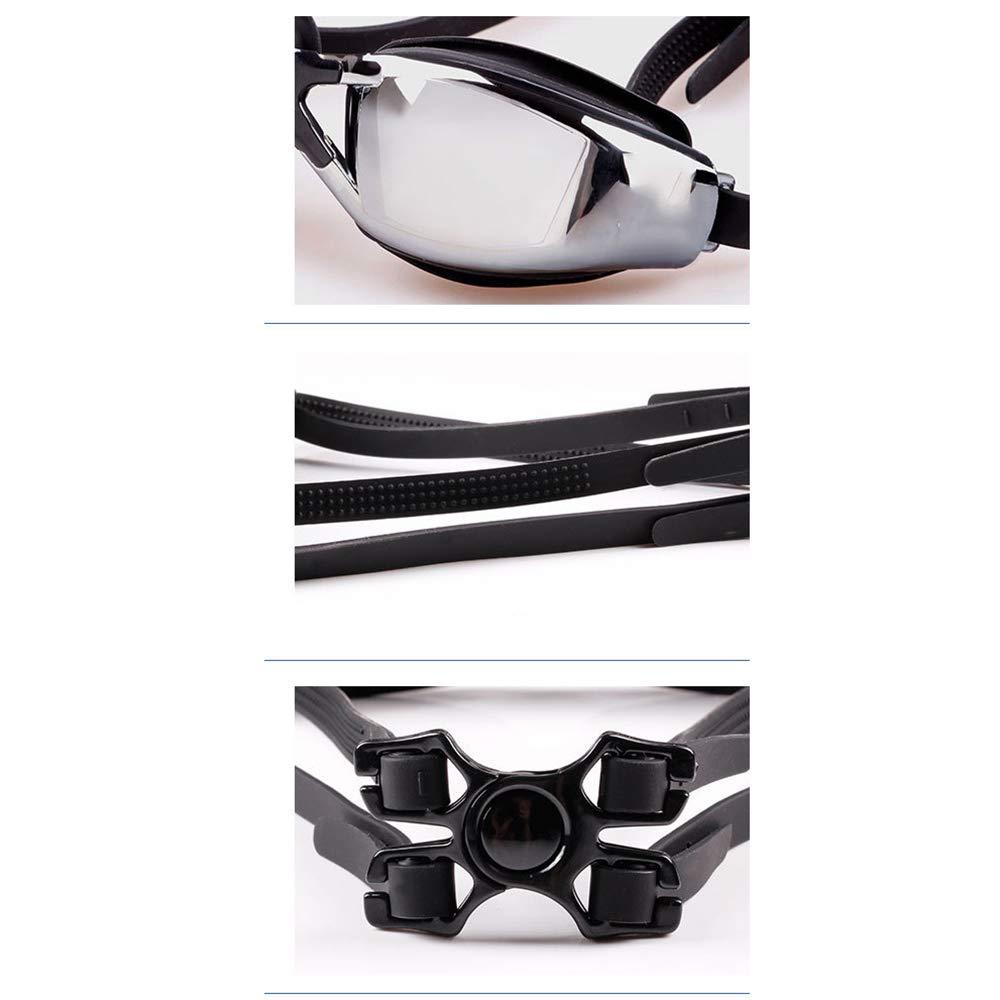 JUZEN Anti-Fog-Schwimmbrille wasserdicht und Anti-UV-Anti-Leck-Schutzbrillen kostenlose Badekappe Badekoffer Stamm-Aufbewahrungstasche, Set Set Set von 5 B07QF6BRXT Schwimmbrillen Moderner Modus 047feb