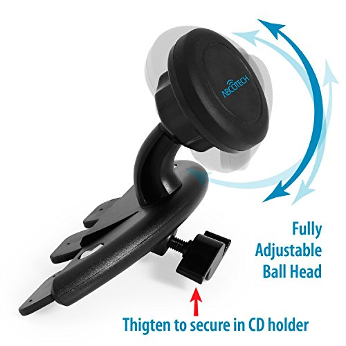 Mobile Phone Car Mount - Cd Slot Car Mount with Magnetic One Step Mounting Technology - Best Cell Phone Holder for Your Car - Compatible with All Phones