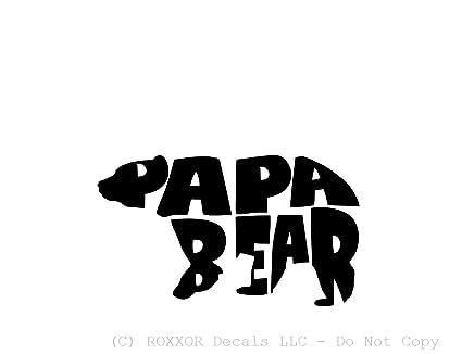 4c5013f6b4 Amazon.com  Papa Bear (available in White or Black) - Precision-cut ...