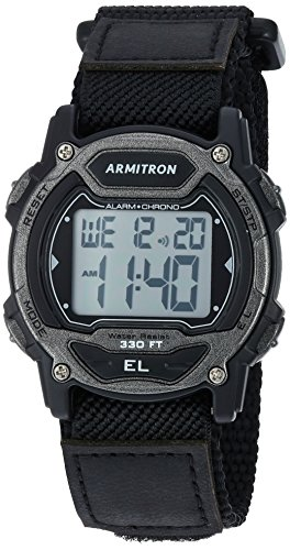 Armitron Sport Unisex 45/7004GBK Digital Chronograph Black Nylon Strap Watch