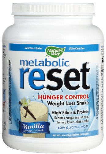 Natures Way Metabolic Reset Vanilla Weight Loss Shake, 1.4 Pound -- 1 per (Metabolic Shake)