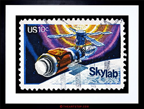 The Art Stop Postage Stamp USA 10 Cents Skylab Space Station Framed Print F12X4157