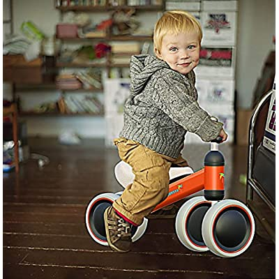 Baby Balance Bike - Baby Bicycle for 6-24 Months, Sturdy Balance Bike for 1 Year Old, Perfect as First Bike or Birthday Gift, Safe Riding Toys for 1 Year Old Boy Girl Ideal Baby Bike (Orange): Sports & Outdoors