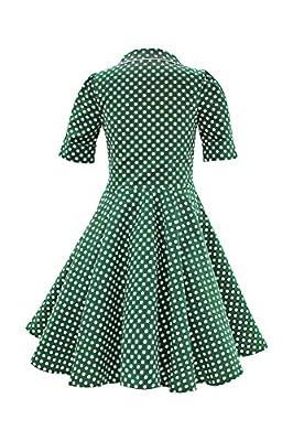 BlackButterfly Kids 'Sabrina' Vintage Polka Dot 50's Girls Dress