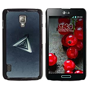 Be Good Phone Accessory // Dura Cáscara cubierta Protectora Caso Carcasa Funda de Protección para LG Optimus L7 II P710 / L7X P714 // Triangle Abstract