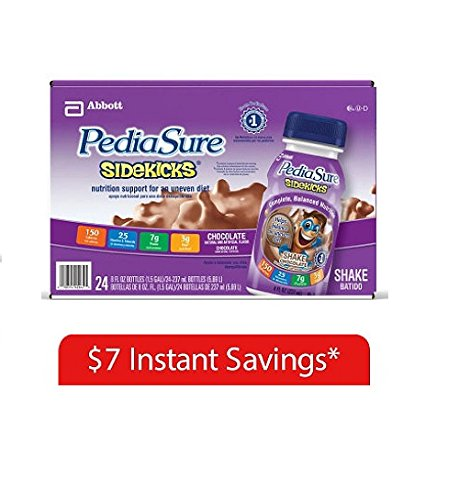 Cheap PediaSure Sidekicks Chocolate Shake, 8 oz Bottles (24-Pack)