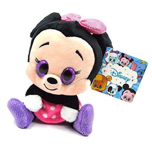 Glities Disney Minie Mouse Plush Stuffed with Sparkling Glitter Big Eyes