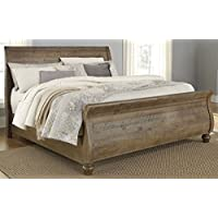 Signature Design by Ashley B659-78 Trishley Pine Sleigh Headboard, King