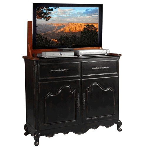 TV Lift Cabinet for 32-46 inch Flat Screens (Weathered Black) AT006332-BLK by TVLiftCabinet, Inc