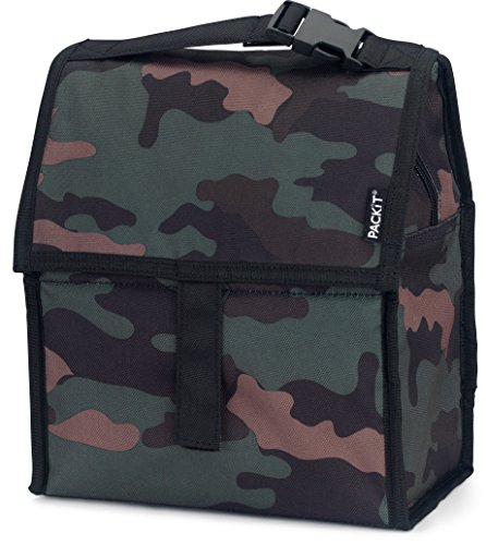 PackIt Freezable Lunch Bag with Zip Closure, Classic Camo (Classic Lunch)