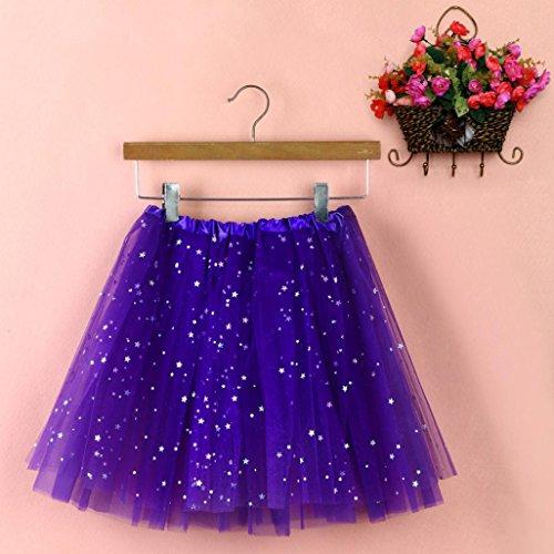couleurs Robe Gaze en jupe Moonuy Mini jupe ballet danse courte Jupe tutu de Courte court plisse adulte Femme Tutu violet varies Tutu fonc tulle UqwtwRX