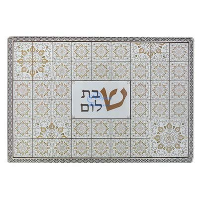 Min QTY order 1 the price is for 1 pcs SNSArts /& Judaica Beautiful REIFORCED THICK GLASS CHALLAH TRAY 3725 CM