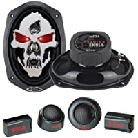 2) NEW BOSS SK694 6x9 700W 4 Way Car Audio Speakers + 2 Boss TW15B 1 Tweeters