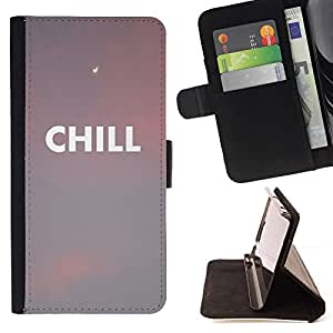 For Samsung Galaxy S5 V SM-G900 Case , Nubes Sunset Nubes texto Peach- la tarjeta de Crédito Slots PU Funda de cuero Monedero caso cubierta de piel