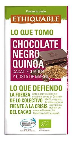 Ethiquable Chocolate Negro con Quinoa Bio - 100 gr: Amazon.es: Alimentación y bebidas
