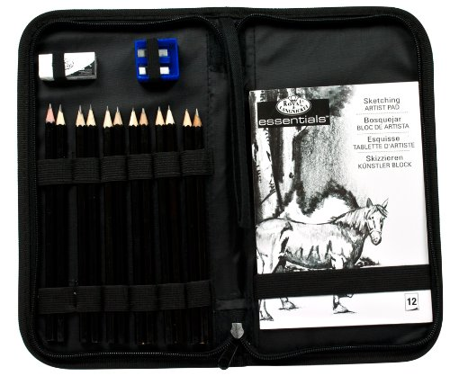 Large Product Image of Drawing and Sketching Pencil Set In Zippered Carrying Case