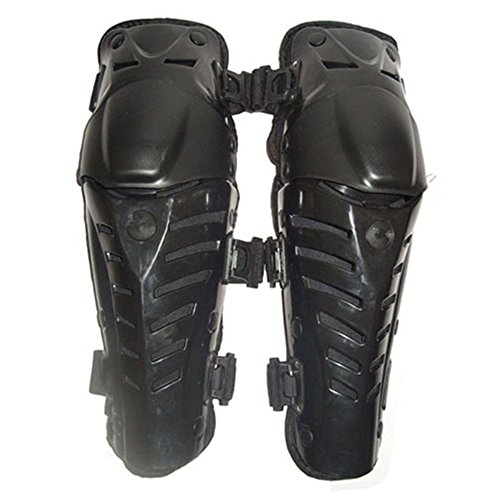 Carejoy 1 Pair of Fashion Knee Armor Protect Guard Pads Accessories with Plastic Cement Hook for Motorcycle Motocross Racing (Black)