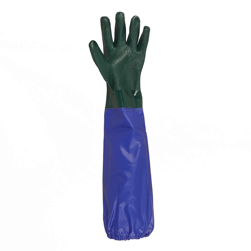 POND AND DRAIN PROTECTIVE GLOVES SLEEVE PVC WATERPROOF TOUGH HEAVY DUTY