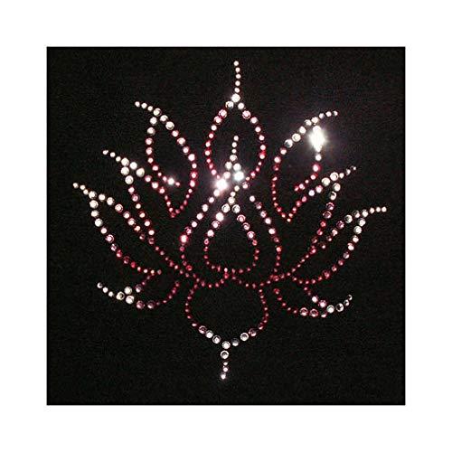 JCS Rhinestones Lotus Flower Iron On Rhinestone and Rhinestud Transfers for -