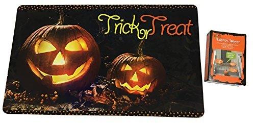 Halloween Spooky Pumpkin Doormat with Screaming Mat Bundle Indoor / Outdoor (Halloween Scary Sounds Online)