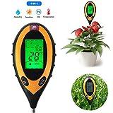 Johnny Nelson Soil Tester - PH Meter/Sunlight/Air Temperature/Moisture Meter - 4 in 1Testing Tool - for Garden