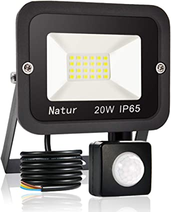 20W LED Foco Exterior con Sensor Movimiento, bapro Proyector Led ...