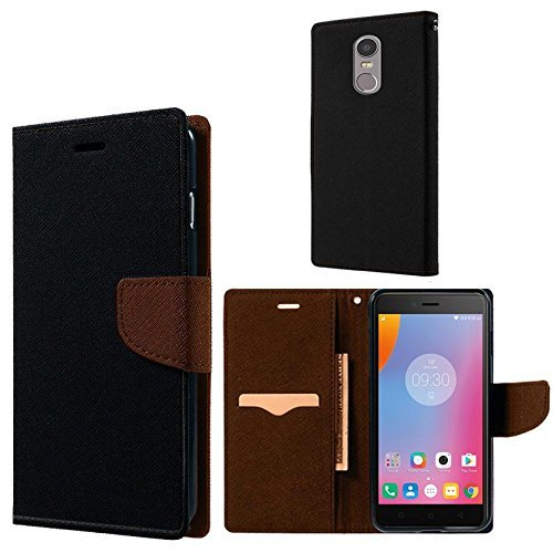 half off c0a16 f8122 ERIT Lenovo K6 Note Ultra Compact with Stand, Credit Card Slots and Wallet  Flip Cover(Brown)