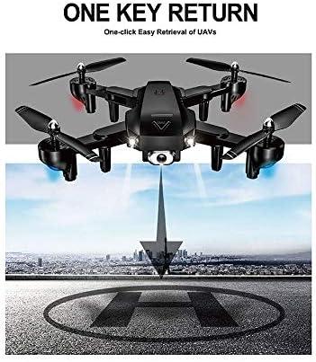 LCZHP Mini Drones avec caméra, Drone avec caméra HD 1080P WiFi FPV Drones RC Position du Flux Optique GPS Hélicoptère RC Aérien 2.4G Rc Jouets Rc Quadricoptère,Noir,720pcamera