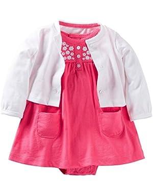 Pink 2 Piece Dress Set 6 Months