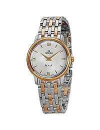 Omega DeVille Prestige Steel and 18kt Gold Ladies Watch 42420276005002