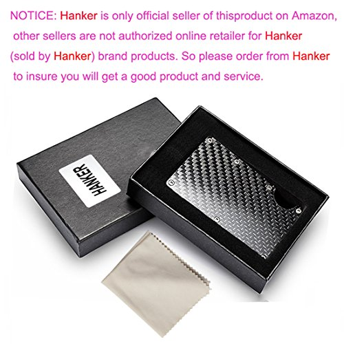 Carbon Fibre Slim Front Pocket Minimalist Wallet Money Clip Credit Card Holder RFID Blocking