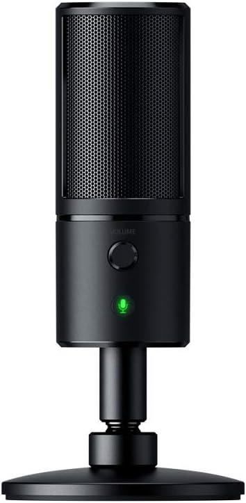 Razer Seiren X Micrófono para transmisiones en Streaming con Condensador, Color Negro