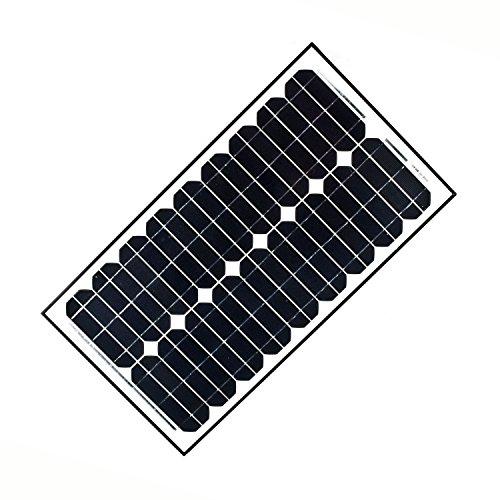 ALEKO SP30W12V Solar Panel Monocrystalline 30W for any DC 12V Application (gate opener, portable charging system, etc.)