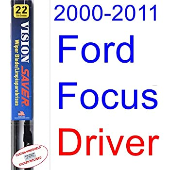 2000-2011 Ford Focus Wiper Blade (Driver) (Saver Automotive Products-Vision Saver) (2001,2002,2003,2004,2005,2006,2007,2008,2009,2010)