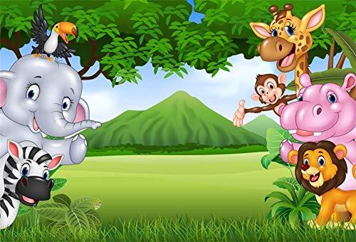 Yeele 7x5ft Jungle Safari Backdrop Photography Background Cartoon
