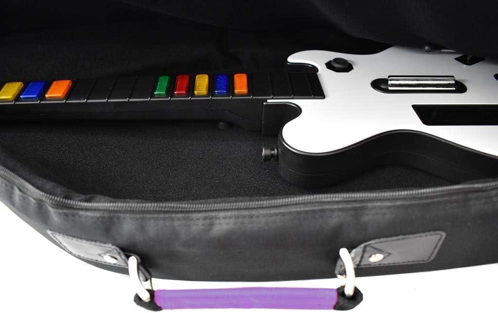 TGC - Funda para Guitarra eléctrica, Color Morado y Negro ...