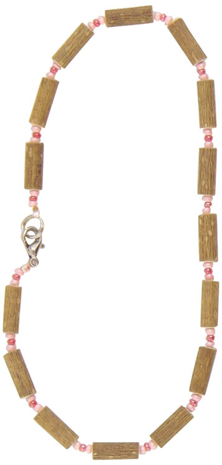 Healing Hazel Hazelwood Baby Necklace Frosted Pink/Light Matte Pink 10.5-Inch CB-NO-10 10 1/2