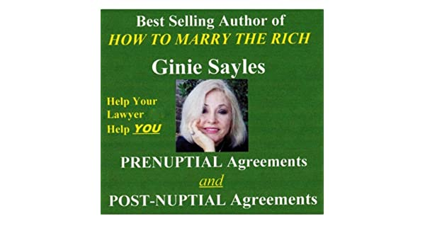 Prenuptial Agreements And Postnuptial Agreements By Ginie Sayles On